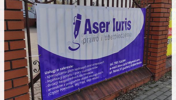 Logo i materiały reklamowe dla Aser Iuris