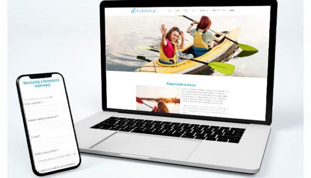 Strona internetowa i materiały reklamowe dla kajakolandia.pl